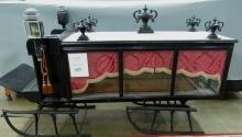 Antique Hearse Sleigh Horse Drawn Carriage Rare to find 1880's