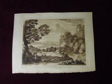 A Landscape with Cattle Second Print Liber Veritaits After