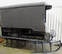 Antique Paddy Wagon Sleigh with Canvas Top One of A Kind Piece