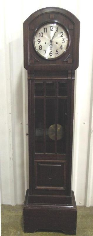 Antique Junghams Grandfather Clock Hastings Short Case Model