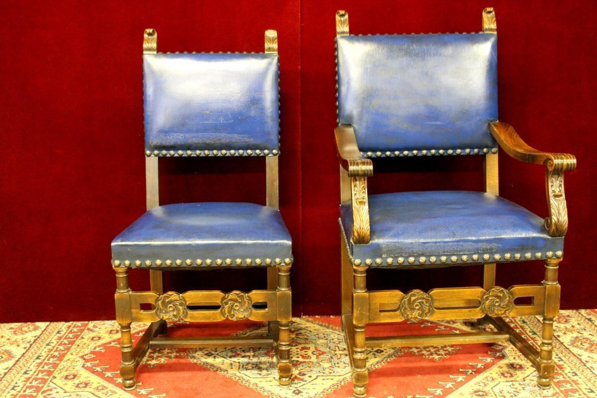 Pair Mahogany Renaissance  Chairs  From Cranbrook Academy of Art