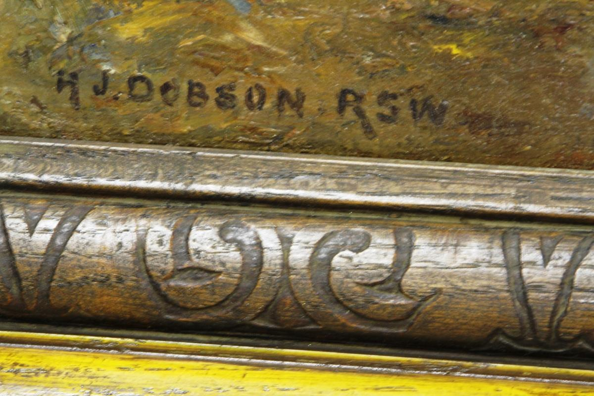Henry John Dobson RSW Oil on Canvas