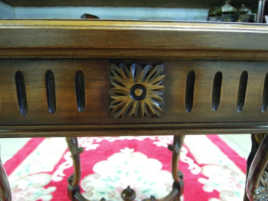 Antique Figural Head Table  Marble Top Octogon Shape