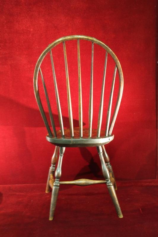 Antique Primitive Windsor Side Chair Circa 1760 1790