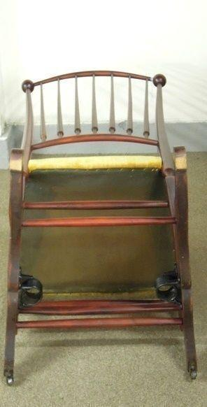 Antique Rocking Chair Platform  Base Spindle Back