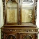 Antique Hunting Figural Head  China Cabinet Hutch Rare