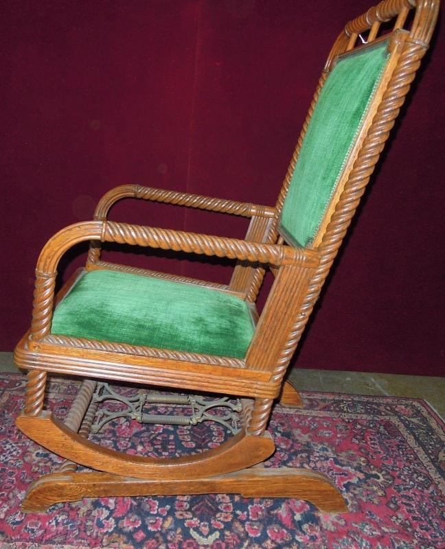 Antique Huntzinger Style Rocking Chair Platform Base