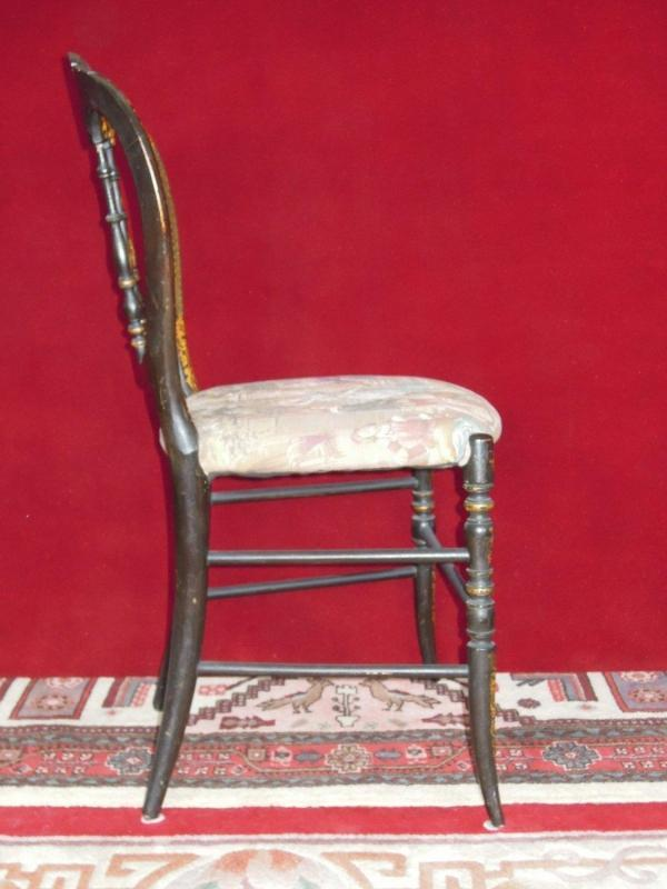 Antique Chair with Tapestry Seat