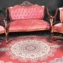 Carved  Antique  Parlor Settee Rocking Chair Side Chairs Man Of North Wind  Zeus