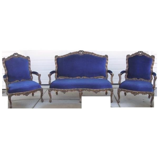 Louis XV Salon Set Settte Chairs Stuning SALE