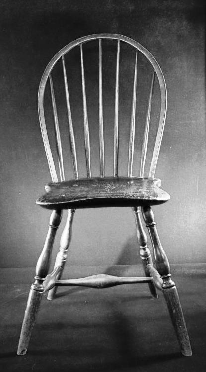 Antique Primitive  Chair  Windsor SideCirca 1760 1790