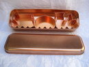 Copper Plated Set of 3 Train Locomotive Coal Car Caboose Cookie Cutters