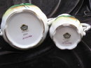 Porcelain  Norcrest Liily Of The Valley Sugar & Creamer Handpainted Set