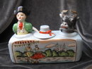 Vintage Nodder Matador & Bull Condiment Salt & Pepper Set