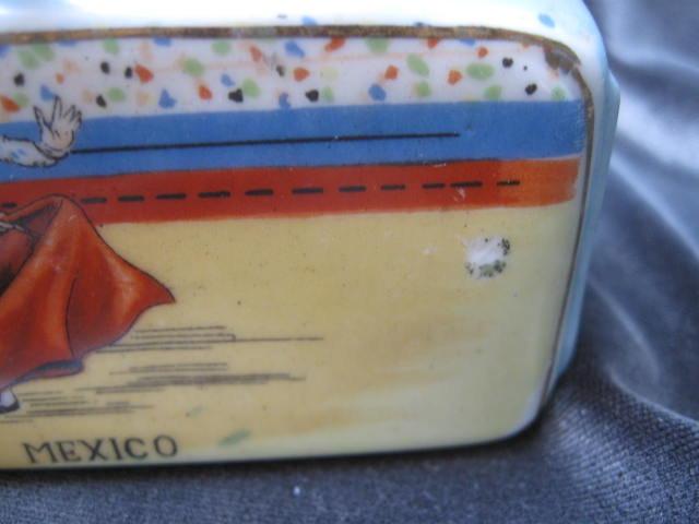 Vintage Nodder Matador & Bull Condiment Salt & Pepper Set