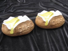 Idaho Baked Potato With Butter Salt & Pepper Shakers