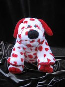 Ty Sweetly  The White & Red Puppy Dog With Valentine Hearts