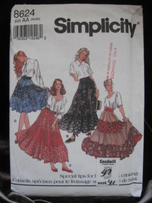 Simplicity 8624 Pull On Skirt In 4 Versions Sewing Pattern