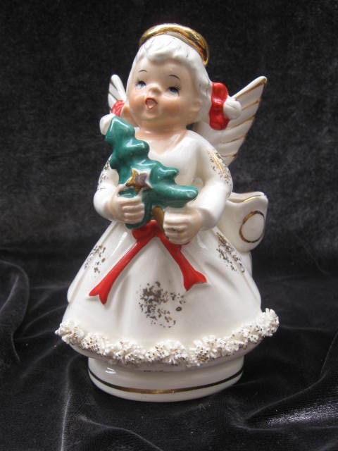 Vintage Lefton Ceramic  Christmas Angel