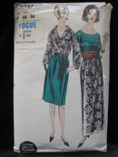 Vintage Vogue 6027 Misses' Shirt, Blouse, Skirt & Cummerbund Sewing Pattern Size 12 1960's