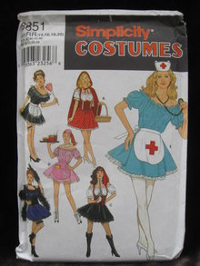 New   Simplicity 8851   Misses'  Sexy   Red Riding Hood, Nurse, Pirate + More   Halloween Costume Sewing Pattern