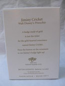 Hallmark 2011 Jiminy Cricket Walt Disney Pinocchio Christmas Tree Ornament    Magic Light