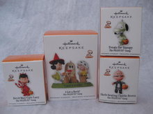 Lot of 4 Hallmark 2010 Peanuts Halloween Ornaments