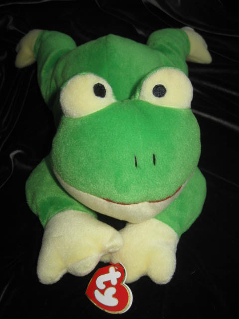 Ty Ribbit The Frog Pillow Pal Plush