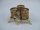 Vintage Cherub Filigree Gold Tone  Lipstick Holder