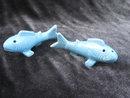 Vintage Aqua  Blue Fish Salt & Pepper Shakers