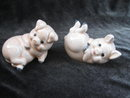 Vintage Playful Pigs Salt & Pepper Shakers