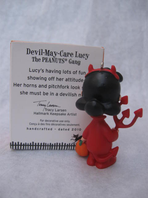 Hallmark 2010 Devil May Care Lucy The Peanuts Gang Halloween Ornament