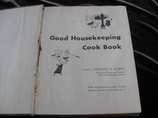 Good Housekeeping Cook Book Mid Century