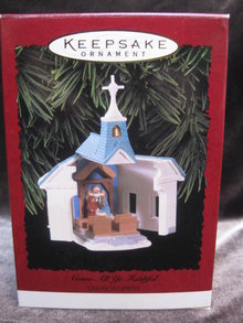 Hallmark 1996 Come, All Ye Faithful Christmas Tree Ornament