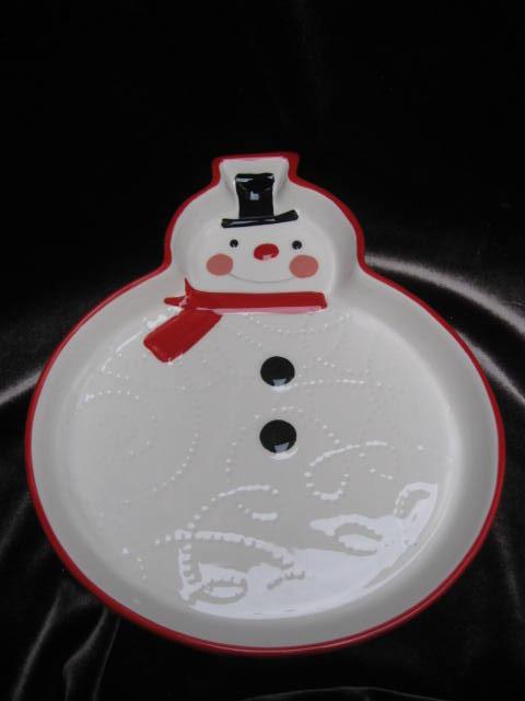 Hallmark 2011 Snowman Candy Plate or Dish