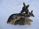 Vintage Deer Doe  & Fawn Japan Porcelain Figurine