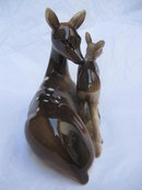 Vintage Deer Doe  & Fawn Japan Porcelain Figurine
