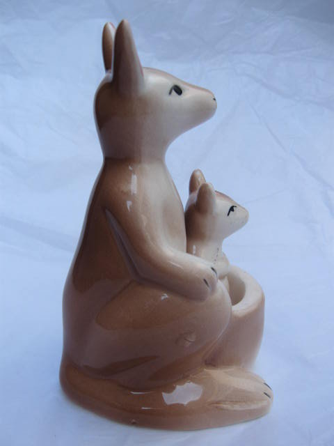 Vintage Kangaroo & Joey Salt & Pepper Shakers