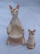 Vintage Kangaroo & Joey Salt & Pepper Shakers