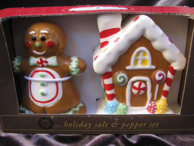 Gingerbread Man & House Salt & Pepper Shakers