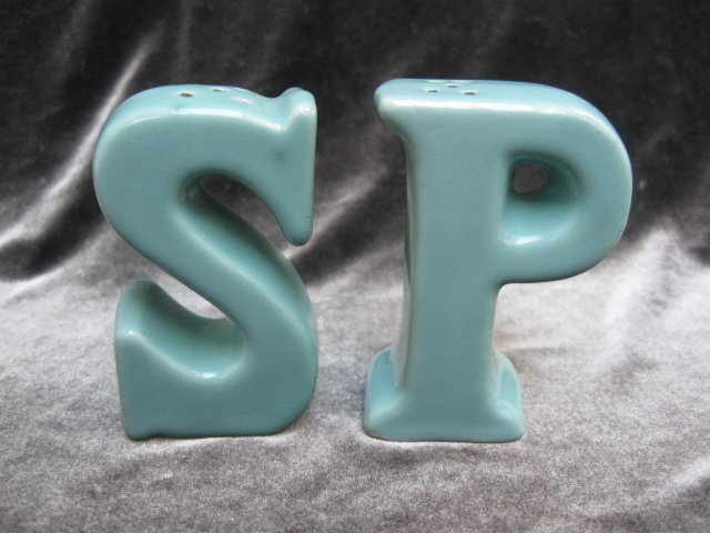 Vintage Letters Letter S & P Salt & Pepper Shakers