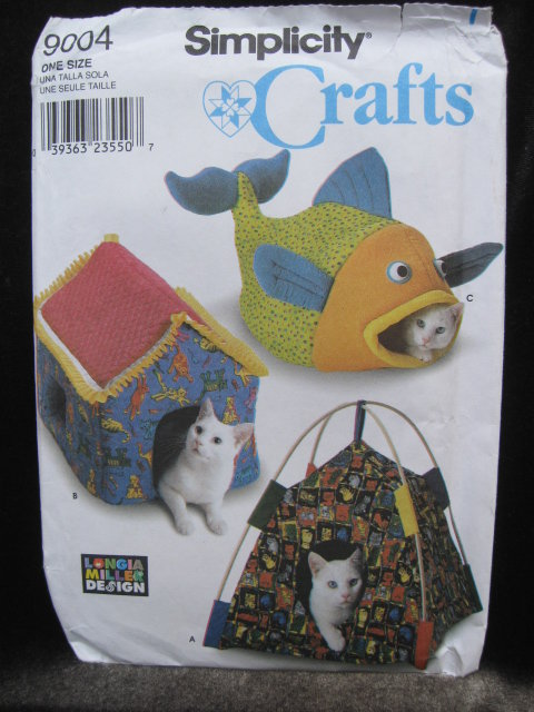 New Simplicity 9004 Kitty Cat Beds or Condo Sewing Pattern
