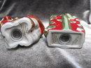 Fitz & Floyd Kitty Kringle Christmas Salt & Pepper Shakers
