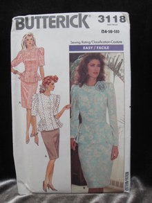 Vintage Butterick  3118 Misses / Misses' Petite Top & Skirt Sewing Pattern 1980's