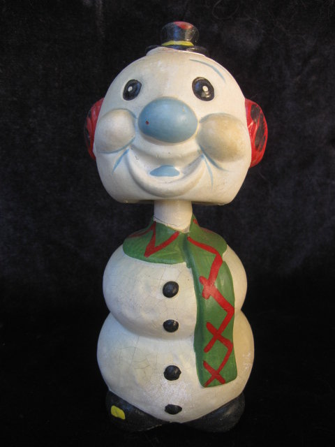 Vintage Bobble Head Bobblehead Snowman Mid Century