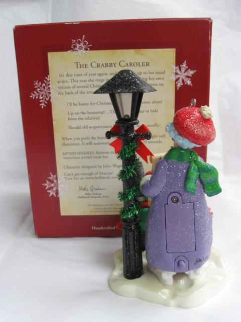 Hallmark 2005 The Crabby Caroler Maxine Magic Christmas Tree Ornament