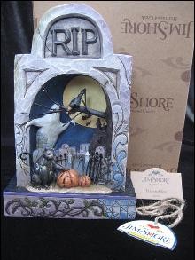 Jim Shore Halloween Lighted Haunted Eve Graveyard Diorama Halloween  Figurine