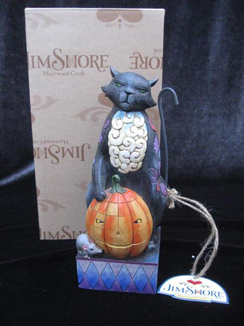 Jim Shore Scaredy Cat  Halloween Black Cat  Figurine