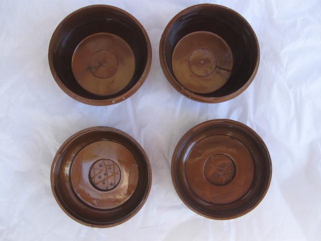 Vintage Admiration  Lusterware Copper Colored Salt & Pepper Shakers