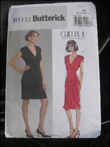 Butterick B5132 B 5132 Sexy Little Black Dress  Misses'  Dress Sewing Pattern